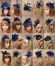 FASCINATOR IN, NAVY BLUES, CHEAPEST ON EBAY, CLASS, WEDDING RACES, OCCASIONS LOT