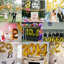 Pop 16 Inch Letter & Number Foil Balloons Birthday Wedding Party Decoration Gold