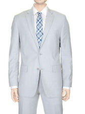 Alfani RED Slim Fit Light Gray Stepweave Two Button Wool Blend Suit