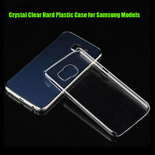 Hot Clear Crystal Glossy Transparent Hard Plastic Case Cover For Samsung Models