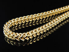 10K Yellow Gold 5.5MM Wide Franco Chain Necklace With Lobster Clasp 24-38 Inch