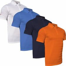2016 Mizuno Textured Zip Neck Mens Performance Sport Golf Polo Shirt