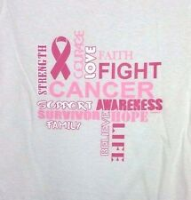 Breast Cancer Awareness FIGHT COURAGE HOPE Missy Fit T-Shirt S-3XL PINK RIBBON