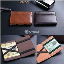 Chic Mens Synthetic Leather Funny Magic Wallet Card Holder Money Clip Purse