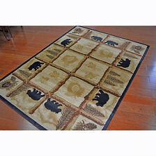 Pine Cone Tree Bear Cabin Lodge Area Rug~2x3~4x6~5x8~8x10~Round~Oval or Runner