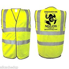 Geocache Geocaching Trackable Hi Vis Vest – Discover Me Tee like Travel Bug
