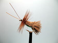 3 X G&H SEDGE OLIVE DRY TROUT FLIES sizes 10,12, 14 available