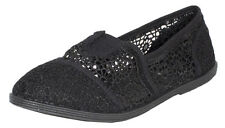 COPE-2! Kid's Girl's Flower Crochet Slip On See Through Casual Flats