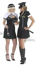 Ladies Sexy American Police Woman Fancy Dress Costume