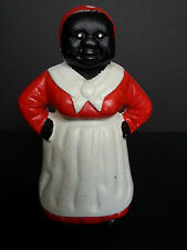Vintage Cast Iron Bank - Aunt Jemima / Mammy Jemima -  Americana  - Red & White
