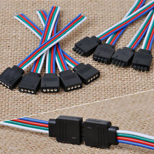 10cm 4Pin Male Female RGB Connector Wire Cable for 3528 5050 SMD LED Strip Light