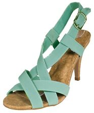 ILICIA34! Qupid Women's Elastic Strappy Open Toe Criss Cross Slingback Sandal