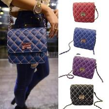 Women Handbag Chain Shoulder Messenger Bag PU Leather Satchel Purse Bag 8N9D