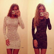 Sexy Womens Lady Bodycon Slim Lace Mini Dress Tight Cocktail Club Party Dress