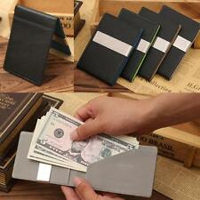 New Mens Magic Slim Leather Wallet Credit Card ID Holder Purse Money Clip Wallet