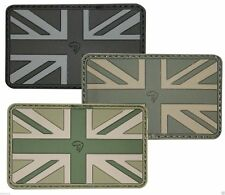 Viper Tactical Union Jack Subdued Rubber  Military Badge Patch Airsoft
