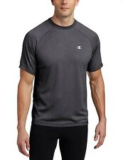 Champion Men's Double Dry Training Short Sleeve Tee Shirt - size S Gray T2098