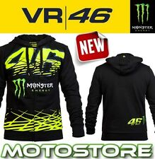 VR46 VALENTINO ROSSI HOODY FLEECE TOP HOODIE MONSTER ENERGY CLAW MONZA BLACK 46