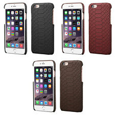 Stylish Leather Snake Skin Cover Snap On Protector Phone Case iPhone 6 6s Plus