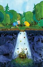 Adventure Time - With Finn & Jake Fabric Art Cloth Poster 36 x 24
