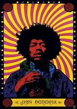 New Psychedelic Jimi Hendrix Poster