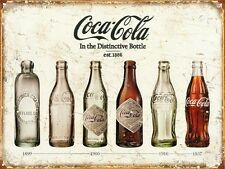 Coca-Cola Coke Bottle Evolution Tin Sign 42x30cm