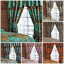 Window Camo Valance 2 Panels Curtain Drape Set Woods Sheer Microfber Curtains