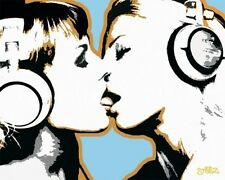 Steez Girls Kissing Poster Card 20x25.5cm