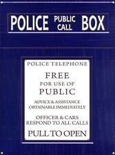 New Police Telephone Public Call Box Metal Tin Sign