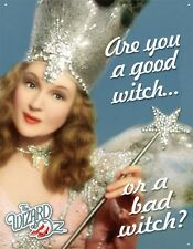 New The Wizard Of Oz Are You A Good Witch or Bad Witch? Tin Sign