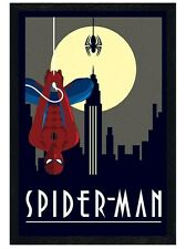 New Black Wooden Framed Marvel Deco Spider-Man Poster