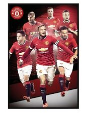 Manchester United Gloss Black Framed Star Players 2014/15 Maxi Poster 61x91.5cm
