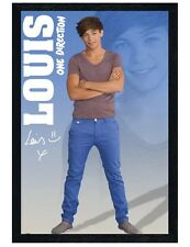 One Direction Black Wooden Framed Louis 1D Maxi Poster 61x91.5cm