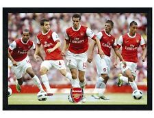 Arsenal FC Black Wooden Framed The Gunners Star Players Poster 91.5x61cm