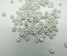 200pcs/Lots 4mm Handmade Daisy Spacer Metal Beads Jewelry Making HOT SELLING