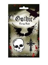New Skulls & Crosses All Things Gothic Temporary Tattoos