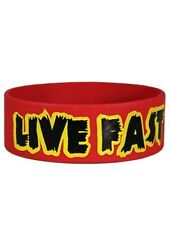 New Live Fast Die Young Wristband