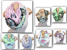BUTTERFLY LOOP BUTTERFLY DESIGN SCARF SCARF CIRCLE SCARF FASHION COLOURS NEW