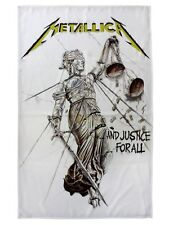 Metallica And Justice For All Textile Flag - NEW & OFFICIAL