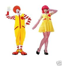Mr or Mrs McDonald Clown Complete Fancy Dress Costume UK