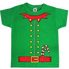 Elf With Candy Canes Costume Green Kids T-Shirt