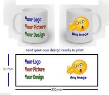 Personalised Mug, with your own Design Photo, Text, Picture free postage