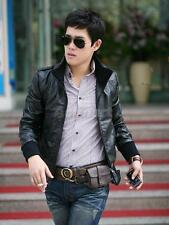 Mens Slim Fit Top Designed PU Leather Jacket Winter Stylish Coat Black M L XL