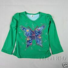 Baby Girls Green Crew Neck Tops Cotton Butterfly Fancy T-shirt Age 3-4-5 Years