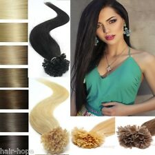 16''-26'' Pre Bonded Keratin Nail U Tip Real Indian Remy Human Hair Extensions