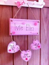 Personalised Handmade New Baby/Christening Plaque, Ideal Gift for Girl or Boy
