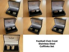 Club Crest Football Club Cufflinks Gift Set - Framed Men's Cufflinks Various FC