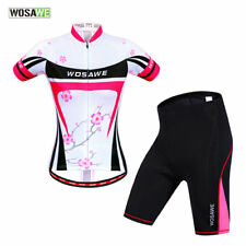 Women Cycling Jersey Bike Bicycle Clothing Short Sleeve Suit Short Breathable