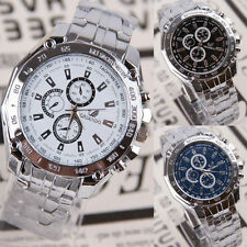 NEW DESIGNER WRIST WATCH FASHION STYLE MEN BOY BIRTHDAY GIFT STAINLESS STEEL