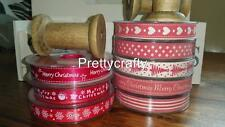 NEW CHRISTMAS VINTAGE SHABBY CHIC RIBBON 16MM 20 Metres